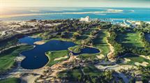 Aerial View of the 9 Hole Golf Course at JA Jebel Ali Golf Resort