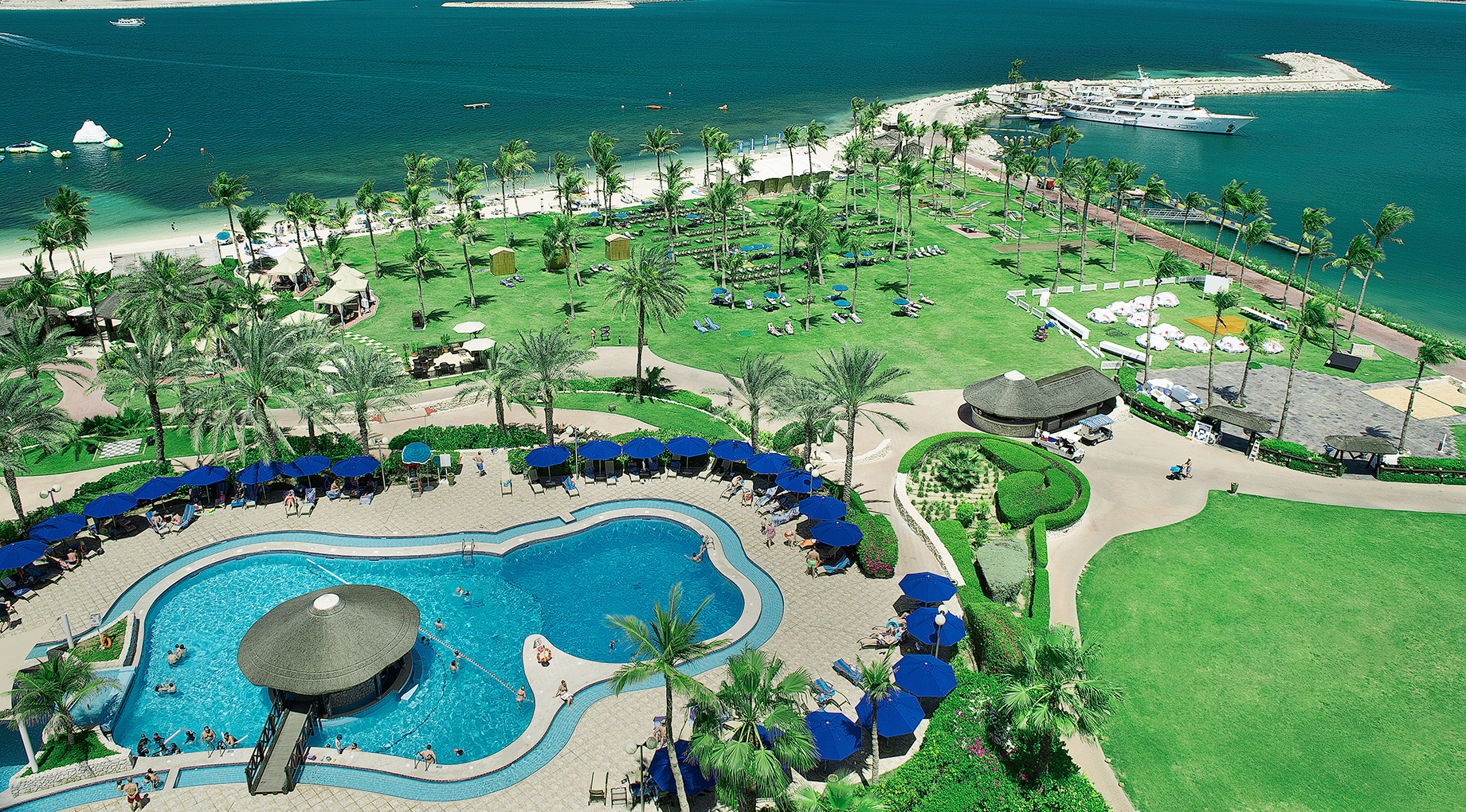 Aerial view of JA Jebel Ali Golf Resort in Dubai