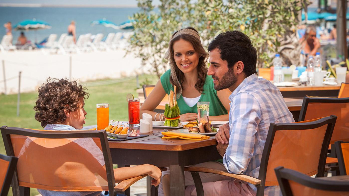 Family at JA Jebel Ali Beach Hotel